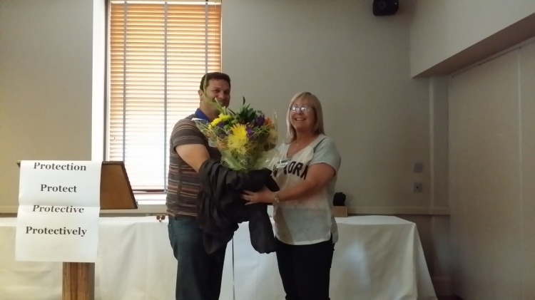 Doncaster Speakers | Flowers for Immediate Past President Gail Powell