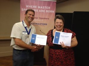Toastmasters International | Doncaster Speakers | Andrew and Jean club winners
