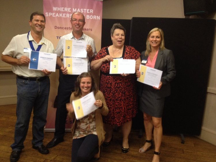Toastmasters International   Doncaster Speakers   Participants club contest