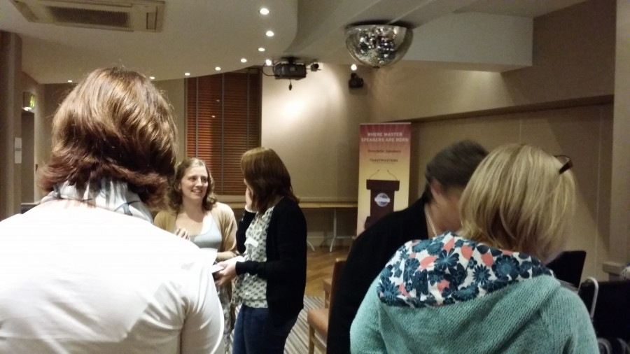 Doncaster Speakers Open Evening | Mingling at break time