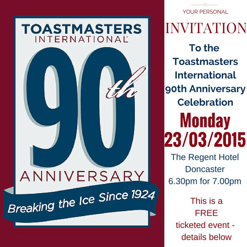 Toastmasters International 90th Anniversary Invitation
