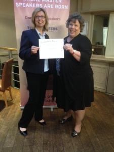 Julie Gordon receives her Competent Leadership award