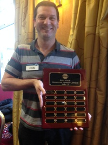 Andrew Miller with Area 21 Awards board
